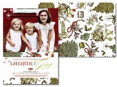 Double Sided Christmas Cards in colorful designs at #SouthernStationery.com  #Christmas