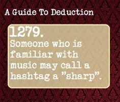A Guide To Deduction -SH - although.not in Mr Baggins's case, Sherlock. Sherlock Holmes, Writing Tips, Writing Prompts, Essay Writing, Guide To Manipulation, A Guide To Deduction, The Science Of Deduction, When School Starts, Detective