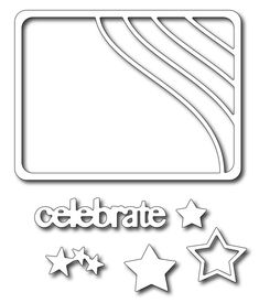 Frantic Stamper - Precision Dies - Stars and Stripes Photo Card (set of 6 dies)