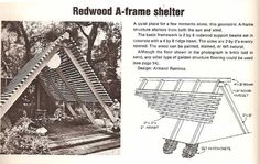 Building plans for a REDWOOD A-FRAME SHELTER : PopuluxeBooks, Retro Info For Your Mod Style