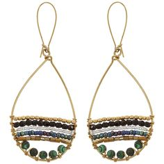 """These playful earrings were designed around the timeless appeal of malachite -- one of East Africa's richest natural stones -- prompting the question, """"what's the story behind those earrings!?"""""""