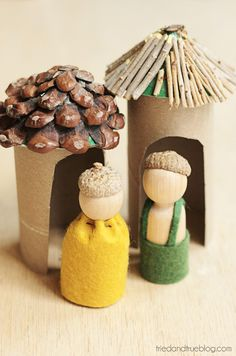 Woodland Folk Toys for Thanksgiving - Sweet toys to stretch the imagination!