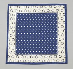 LEVI'S VINTAGE CLOTHING: Blue & White Polka Dot Bandana