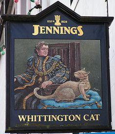 Whittington Cat pub sign