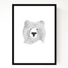 Look closely and you will see that this bear is drawn almost entirely from the word 'bear!' A print of an original pen and ink drawing, digitally coloured. Printed on paper. Each print is approximately x and is shipped in a protective stiff envelope. Art D'ours, Illustrator, Bear Drawing, A4 Poster, Decoupage, Bear Print, Decoration Design, Black Bear, My Living Room
