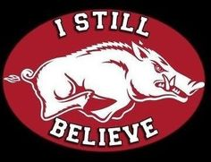 I still believe and support the Hogs!!