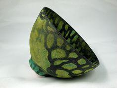 Olia Lamar - green tree eartheneare bowl5 by olialamar1, via Flickr