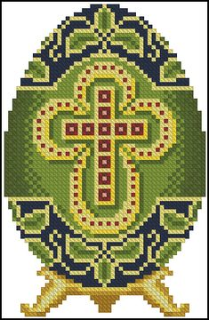 Hama Beads, Seed Beads, Pixel Beads, Easter Egg Pattern, Easter Cross, L Love You, Christmas Cross, Bead Art, Cross Stitching