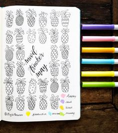 My mood tracker for may. I am so excited to start coloring it 😋😍🍍🍍🍍 Bullet Journal Junkies, Bullet Journal Layout, My Journal, Journal Prompts, Bullet Journal Inspiration, Journal Pages, Journal Ideas, Bullet Journals, Bullet Journal Mood Tracker Ideas