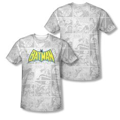 Batman Vintage Comic Adult Sublimation Allover Print T-Shirt from Warner Bros.: This Batman t-shirt features an… #Movies #Films #DVD Video