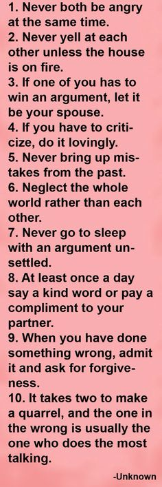 Keys to a happy relationship... <3