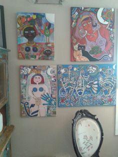 Se fueron dos cuadros La minina desnuda y la dama de los Gatos. Juan Cosas Viejas La Barra no tiene fronteras y esta vez se fue a Corrientes Argentina. Conejitas de Felices Pascuas