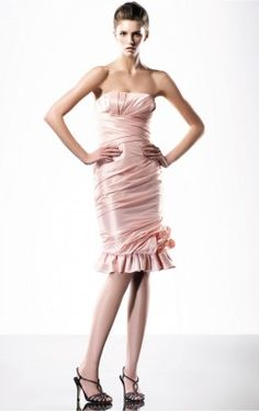 Rosa Charming Mantel knielangen Kleid Sweetheart