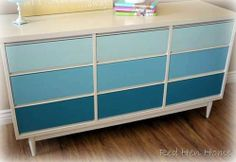 The Girl Creative: Ombre and Ordinal Furniture {trend alert}