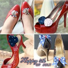 Happy of July : patriotic and nautical shoes clips Labor Day Wedding, July Wedding, Wedding Season, 4th Of July Party, Fourth Of July, Nautical Shoes, Low Cost Wedding, Patriotic Outfit, Shoe Pattern
