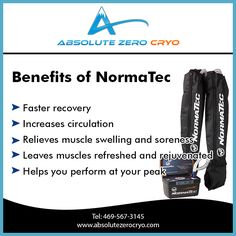 #NormaTec system is the premier #recovery system used to increase #circulation, #healing and faster recovery. #healthy #fitness #beauty #weightloss #dallas #texas #dallascryo #absolutezerocryo #reset #cold #therapy #rejuvenate #fit #sports #beautiful #bestbody