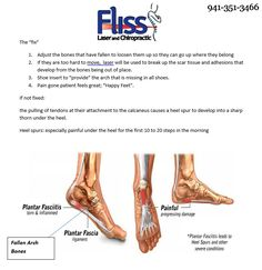 Do you have or have been diagnosed with Plantar Fasciitis?  Fliss Laser and Chiropractic can help.  Give us a call at 941-351-3466 to schedule an appointment.  Relieving your pain is our top priority.  #BradentonChiropractor #SarasotaChiropractor #BradentonLaserTherapy #SarasotaLaserTherapy