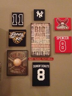 Baseball wall art layout