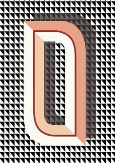 Q- Bau Deco letter posters by Ferm Living