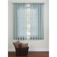 Better Homes and Gardens Elise Woven Stripe Sheer Window Panel, Clear