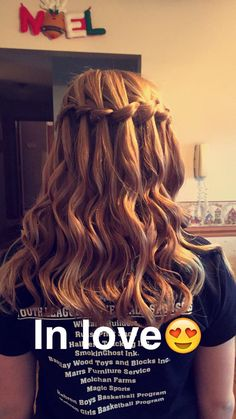 This is my own hair waterfall braid done by my cousin #waterfall#braid