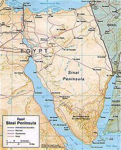 Sinai Península - separa Africa da Ásia e o mar Mediterrâneo do Vermelho