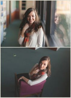 Jessica Klaus Photography » St. Marys Ohio Senior Photographer   indoor senior portrait, Library session, indoor lighting