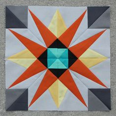 The Shazam Star - February 2014 Lucky Stars Block of the Month Club   Flickr - Photo Sharing!