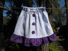 From Shirt to Skirt - this is for a child's skirt, but it would be easy to upsize for an adult.