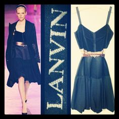 Lanvin 3,700.00 black velvet/satin runway dress w/bubble skirt & frayed edges sz. 38/S; RR Price - 675.00  http://resaleriches.mybisi.com/product/lanvinrunwaydress