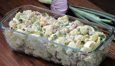 Sałatka ziemniaczana - przepis sprawdzony na gościach Love Food, Potato Salad, Grilling, Potatoes, Ethnic Recipes, Impreza, Diet, Egg Salad Recipes, Food And Drinks