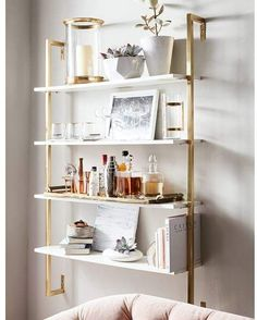 Save space and stay organized with wall shelves and floating shelves from Pottery Barn. Find wood, metal and glass shelves in various styles to complete your space. Living Room Kitchen, Living Room Decor, Bedroom Decor, Apartment Kitchen, Bedroom Lighting, Teen Bedroom, Entryway Decor, Living Rooms, Muebles Living