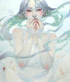 As delicadas mulheres nas pinturas surreais e de fantasia de Miho Hirano