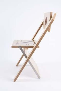 The Label Chair, designed by Félix Guyon and manufactured by Canadian company La Firme.