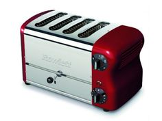 Rowlett Esprit 4 Slice Thick n Thin Toaster in Claret - Toasters - Electronics