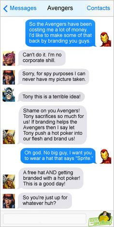 Post with 3800 votes and 156812 views. Tagged with funny, comics, Super Heroes, Tags are fun; Texts from Superheroes Funny Marvel Memes, Marvel Jokes, Dc Memes, Marvel Dc Comics, Marvel Heroes, Funny Comics, Marvel Avengers, Superhero Texts, Avengers Texts