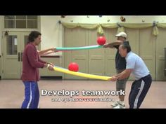 Motor Planning Activity Using Pool Noodles Your Therapy Source is part of Gym games Here is a super easy set up but challenging activity to encourage motor planning skills, coordination and body aw - Pe Activities, Activity Games, Physical Activities For Kids, Leadership Activities, Elementary Pe, Pe Lessons, Motor Planning, Youth Games, Team Games For Kids