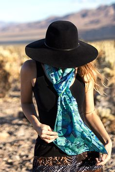 A one-of-a-kind, hand painted silk scarf that reflects a soaring imagination!