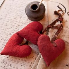 Red hearts...Stein's Country Collection