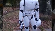 Store-bought costumes are always a bit ... lacking. When TJ Maggio came across Jakk Pacific's 48 inch First Order Stormtrooper, he saw the potential for a really spectacular halloween costume for his son.