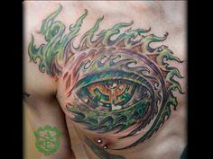 Tool Eye Chest Tattoo done by Sean Ambrose at Arrows and Embers Custom . Tool Tattoo, Band Tattoo, Tattoo You, Alex Grey Tattoo, Tattoos For Guys, Tattoos For Women, Best Tattoo Shops, Tool Band, Custom Tattoo