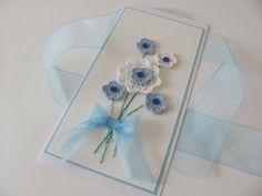 Handmade crochet flowers card by KetisProjects on Etsy, €6.00