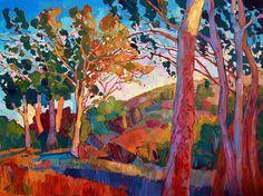 La Jolla eucalyptus oil painting by Erin Hanson
