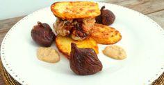 Tournedos de filet mignon de porc au foie gras et paprika avec figues farcies au foie gras. Une recette simple pour les fêtes.. La recette par My Culinary Curriculum.