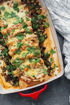 Black Lentil Enchiladas with Zucchini | Naturally Ella