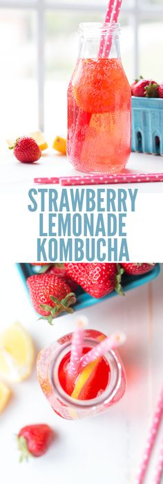 easy lemonade recipe This strawberry lemonade kombucha recipe tastes amazing is way cheaper than brands like Humm, GT, Remedy and Synergy. My soda-loving husband loves the fizz! Kombucha Flavors, How To Brew Kombucha, Kombucha Tea, Flavored Kombucha Recipe, Making Kombucha, Kombucha Benefits, Kombucha Probiotic, Continuous Brew Kombucha, Kombucha Brewing