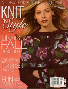 Knit n Style August 2006 Fall Sweaters Felted Hats Twin Sets Knitting Patterns #KnitnStyle #KnittingPatterns