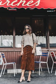 ideas for fashion street style skirt collage vintage Look Fashion, Skirt Fashion, Trendy Fashion, Fashion Outfits, Fashion Women, Fashion Scarves, Trendy Style, Vintage Collage, Slingback Chanel