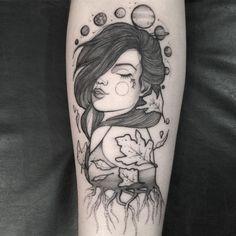 Veja esta publicação do Instagram de @angelikatattooer • Café Preto Tattoo