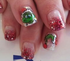 Christmas nails the grinch